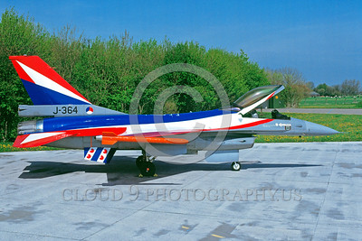 EE-F-16Forg 00022 A static colorful Lockheed Martin F-16 Fighting Falcon Dutch Air Force jet fighterJ-364 military airplane picture via Aviation Slide Service