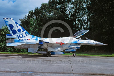 EE-F-16Forg 00028 A static colorful Lockheed Martin F-16 Fighting Falcon Dutch Air Force 8-1998 military airplane picture via African Aviation Slide Service