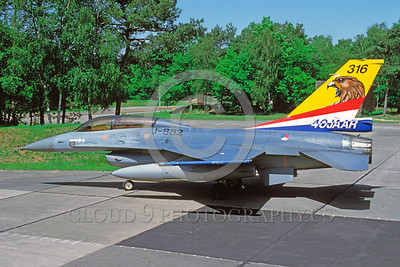 EE-F-16Forg 00025 A static colorful Lockheed Martin F-16 Fighting Falcon Dutch Air Force jet fighter 6-1993 military airplane picture via African Aviation Slide Service