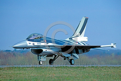 EE-F-16Forg 00005 A taxing colorful Dutch Air Force Lockheed Martin F-16 Fighting Falcon J-016 jet fighter 4-2004 military airplane picture by Raymond Bousselaar