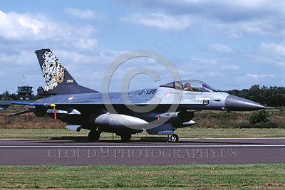 EE-F-16Forg 00015 A static colorful Lockheed Martin F-16 Fighting Falcon Dutch Air Force jet fighter 8-2002 military airplane picture by Marinus Tabak