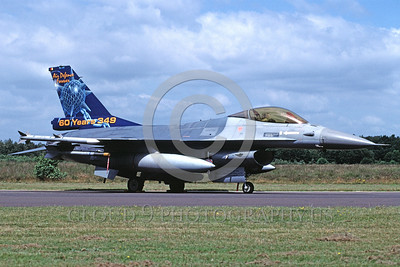 EE-F-16Forg 00014 A static colorful Lockheed Martin F-16 Fighting Falcon Dutch Air Force 8-2002 military airplane picture by Marinus Tabak