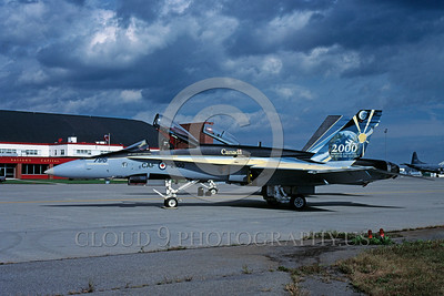 EE-F-18Forg 00002 A static colorful McDonnell Douglas F-18 Hornet Canadian Armed Forces jet fighter via African Aviation Slide Service