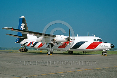 EE-F-27 00001 A static colorful Fokker F-27 Friendship Dutch Air Force flight display aircraft military airplane picture via African Aviation Slide Service