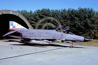 EE-F-4Forg 00013 A static colorful McDonnell Douglas F-4 Phantom II German Air Force jet fighter 9-2002 military airplane picture by Wilfreid Zetsche