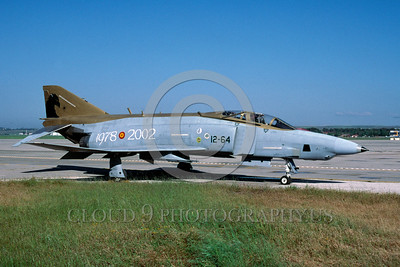 EE-F-4Forg 00018 A static colorful McDonnell Douglas RF-4 Phantom II Spanish Air Force 5-2004 military airplane picture via African Aviation Slide Service