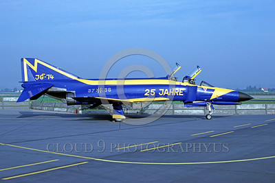 EE-F-4Forg 00005 A static colorful McDonnell Douglas F-4 Phantom II German Air Force JG-74 37+56 9-1986 military airplane picture by Wilfried Zetsche