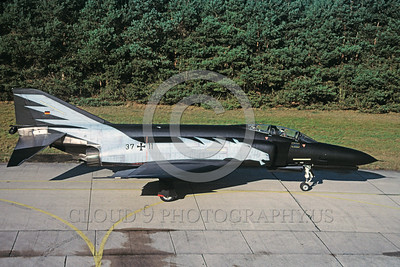 EE-F-4Forg 00021 A static colorful McDonnell Douglas F-4 Phantom II German Air Force jet fighter military airplane picture via African Aviation Slide Service