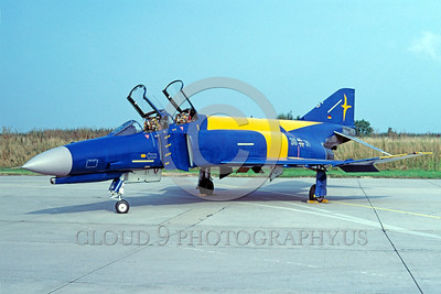EE-F-4Forg 00008 A static colorful McDonnell Douglas F-4 Phantom II German Air Force jet fighter 8-2001 military airplane picture by Wilfried Zetsche