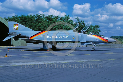 EE-F-4Forg 00025 A static colorful McDonnell Douglas F-4 Phantom II German Air Force jet fighter military airplane picture by Matthias Becker