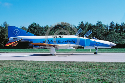 EE-F-4Forg 00009 A static colorful McDonnell Douglas F-4 Phantom II German Air Force jet fighter 10-2002 military airplane picture by Wilfried Zetsche