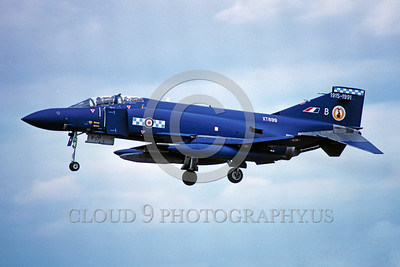 EE-F-4Forg 00002 A landing colorful McDonnell Douglas F-4 Phantom II British RAF XT899 1981 military airplane picture via African Aviation Slide Service