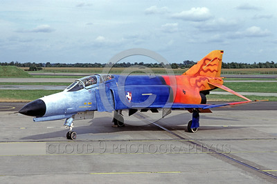 EE-F-4Forg 0004 A static colorful McDonnell Douglas F-4 Phantom II German Air Force jet fighter 9-1996 military airplane picture by Wilfried Zetsche