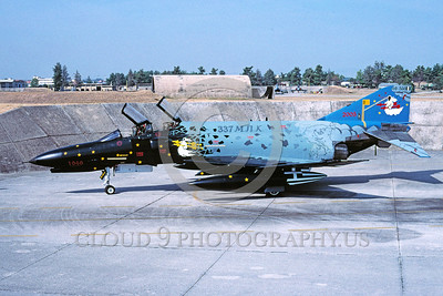 EE-F-4Forg 00016 A static colorful McDonnell Douglas F-4 Phantom II Hellenic Air Force jet fighter 10-2005 military airplane picture via African Aviation Slide Service