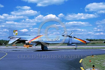 EE-F-4Forg 00010 A taxing McDonnell Douglas F-4 Phantom II German Air Force jet figher 1984 military airplane picture by Wilfreid Zetseche