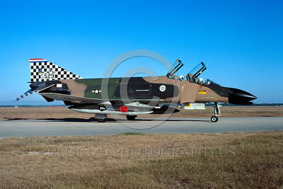 BIC-F4USAF 00001 A static McDonnell Douglas F-4C Phantom II USAF 57th FIS BLACK KNIGHTS bIcentennial markings Tyndell AFB William Tell 10-1976 military airplane picture by Peter J Mancus
