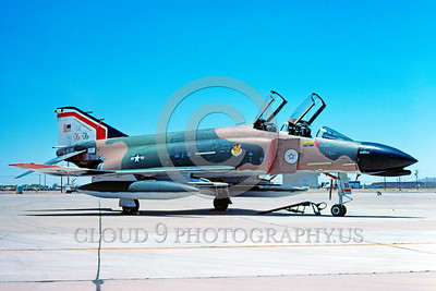 BIC-F4USAF 00003 A static McDonnell Douglas F-4C Phantom II USAF 58th TFW LA code bicentennial markings Luke AFB 6-1976 military airplane picture by Peter J Mancus