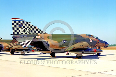 BIC-F4USAF 00002 A static McDonnell Douglas F-4C Phantom II USAF 63460 57th FIS BLACK KNIGHTS bIcentennial markings Tyndell AFB William Tell 10-1976 military airplane picture by Peter B Lewis