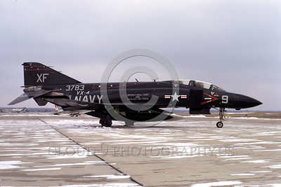 EE-F-4USN 00003 A static black McDonnell Douglas F-4J Phantom II US Navy jet fighter 153783 VX-4 THE EVALUATORS Andrews AFB 1-1971 military airplane picture by Frank MacSorley