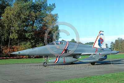 EE-F-5Forg 00007 A static colorful Northrop F-5E Freedom Fighter Dutch Air Force K-3045 1988 military airplane picture by Woerden Gerards