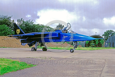 EE-Jaguar 00001 A static colorful SEPECAT Jaguar British RAF attack jet 8-1990 military airplane picture by Michel Fournier