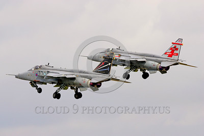 EE-Jaguar 00006 Two flying colorful SEPCAT Jaquars British RAF attack jets military airplane picture by Paul Ridgway