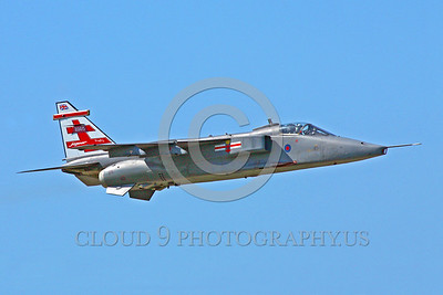 EE-Jaguar 00002 A flying colorful SEPCAT Jaguar British RAF attack jet military airplane picture by Paul Ridgway