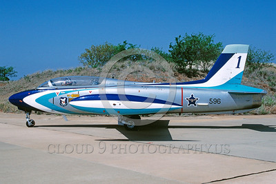 EE-MB-326 00001 A static colorful Aermacchi MB-236 Impala South African Air Force attack jet 11-1994 military airplane picture by Ian Malcolm