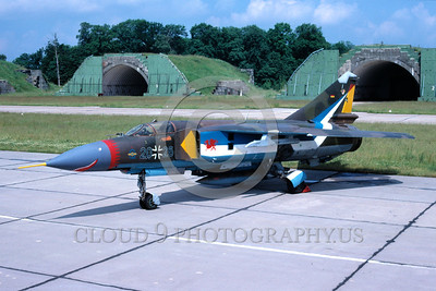 EE-MiG-23 00001 A static colorful Mikoyan-Guryevich MiG-23 Flogger German Air Force 7-1991 military airplane picture by Wilfried Zetsche