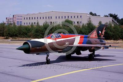 EE-MiG-21 0004 A static colorful Mikoyan-Guryevich MiG-21 Fishbed Czech Repubic Air Force jet fighter military airplane picture by Marinus Tabak