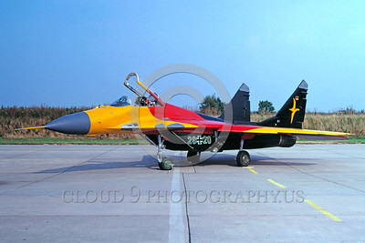 EE-MiG-29 00002 A static colorful Mikoyan-Guryevich MiG-29 Flanker German Air Force jet fighter military airplane picture by Wilfreid Zetsche