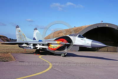 EE-MiG-29 00001 A static colorful Mikoyan-Guryevich MiG-29 Flanker German Air Force jet fighter 9-2003 military airplane picture by Marinus Tabak