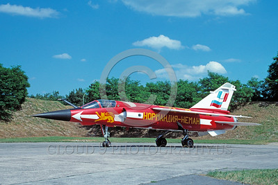 EE-Mirage F1 00004 A static colorful Dassault Mirage F1 French Air Force jet fighter 7-2002 military airplane picture by Michel Fournier
