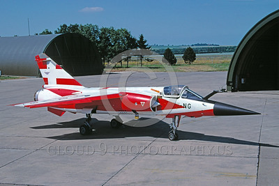 EE-Mirage F1 00005 A static colorful Dassault Mirage F1 French Air Force jet fighter 6-2003 military airplane picture by Michel Fournier