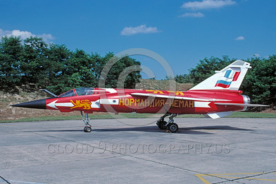 EE-Mirage F1 00007 A static colorful Dassault Mirage F-1 French Air Force jet fighter 7-2002 military airplane picture via African Aviation Slide Service