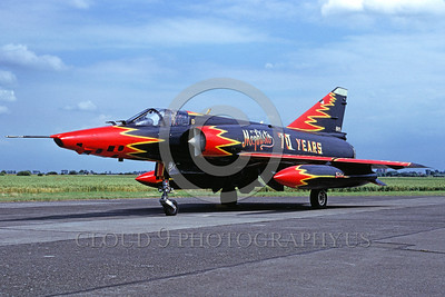 EE-Mirage III 00007 A static colorful Dassault Mirage III jet fighter 7-1990 military airplane picture by Marinus Tabak