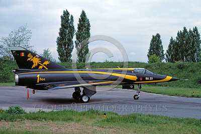 EE-Mirage III 00013 A static colorful Dassault Mirage III Belgium Air Force jet fighter military airplane picture via African Aviation Slide Service