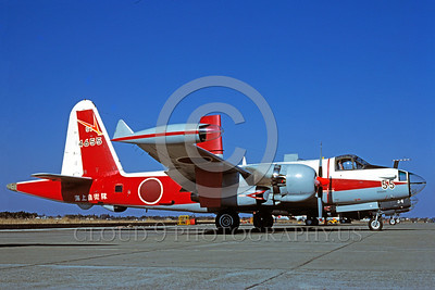 EE-P-2Forg 00001 A static colorful Kawasaki P-2J Neptune JSDF Japanese Self Defense Force anti-submarine warfare airplane picture via African Aviation Slide Service