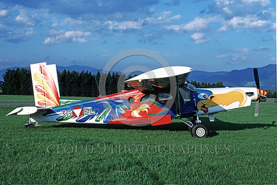EE-PC-6 Turbo 00002 A static colorful Pilatus PC-6 Turbo Austrian Air Force military airplane picture by Marinus Tabak