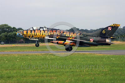 EE-Su-22 00003 A landing colorful Sukhoi Su-22 Fitter Polish Air Force attack jet military airplane picture by Paul Ridgway