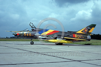 EE-Su-22 00001 A static colorful Sukhoi SU-22 Fitter East German Air Force 7-1991 military airplane picture by African Aviation Slide Service