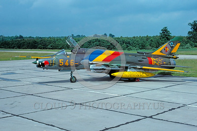 EE-Su-22 00002 A static colorful Sukhoi Su-22 Fitter East German Air Force attack jet via African Aviation Slide Service