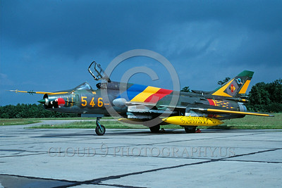 EE-Su-22 00004 A static colorful Sukhoi SU-17 Fitter East German Air Force attack jet 7-1991 military airplane picture via Afican Aviation Slide Service