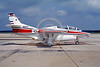 EE-T-2USN 00002 A static colorful North American T-2C Buckeye US Navy 5-1986 military airplane picture by Peter B Lewis