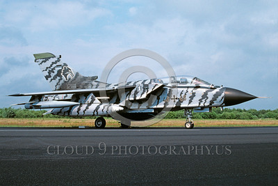 EE-Tornado 00021 A static colorful Panavia Tornado German Air Force military airplane picture via African Aviation Slide Service