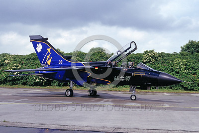 EE-Tornado 00004 A static colorful Panavia Tornado German Air Force fighter-bomber 44+97 7-1997 military airplane picture by Marinus Tabak