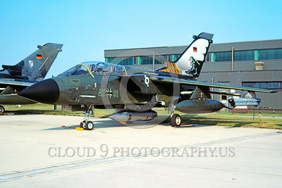 EE-Tornado 00002 A static colorful Panavia Tornado German Air Force 45+91 jet fighter military airplane picture by Raymond Bosselaar