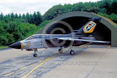 EE-Tornado 00003 A static colorful Panavia Tornado German Air Force 43+70 with raptor head military airplane picture by Raymond Bosselaar