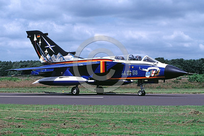 EE-Tornado 00006 A static colorful Panavia Tornado German Air Force fighter-bomber 8-2002 military airplane picture by Marinus Tabak