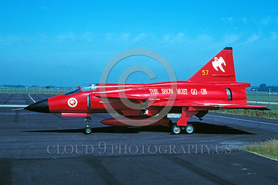 EE-Viggen 00001 A static colorful SAAB Viggen Swedish Air Force jet fighter 7-2000 military airplane picture by Wilfried Zetsche